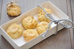 Caramel Christmas Cookies. In a box Stock Photos