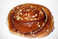 Caramel Cinnamon nut bun sweet dessert Royalty Free Stock Photography