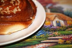 Caramel Cinnamon nut bun sweet dessert Royalty Free Stock Photo