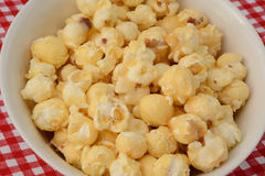 Caramel coated popcorn Stock Photos