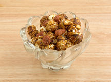 Caramel Coated Popcorn With Peanuts On Counter Top Stock Photos