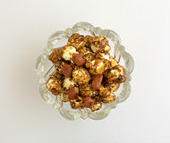 Caramel Coated Popcorn With Peanuts Stock Photography