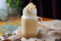 Caramel Coffee Milkshake Royalty Free Stock Photo