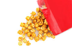 Caramel Corn Spill Royalty Free Stock Image
