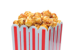 Caramel Corn in Striped Container Stock Images