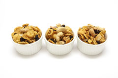 Caramel cornflakes is morning snack. Royalty Free Stock Images