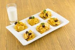 Caramel cornflakes Stock Photo