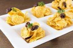 Caramel cornflakes Stock Image