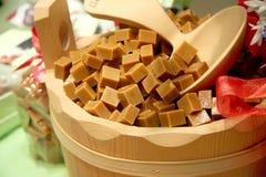 Caramel cubes Royalty Free Stock Photos