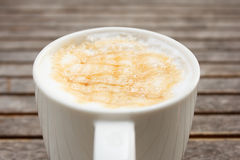 Caramel on cup coffee Royalty Free Stock Photography