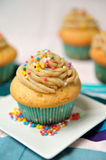 Caramel cupcake Royalty Free Stock Photos
