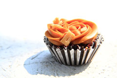 Caramel cupcake isolated Stock Photos