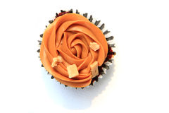 Caramel cupcake isolated Stock Photo
