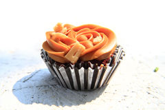 Caramel cupcake isolated Royalty Free Stock Image