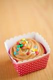 Caramel cupcake Royalty Free Stock Images