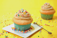 Caramel cupcakes Royalty Free Stock Photos