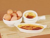 Caramel custard Stock Image