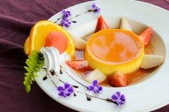 Caramel custard cake Royalty Free Stock Image