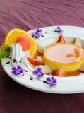 Caramel custard cake Stock Image