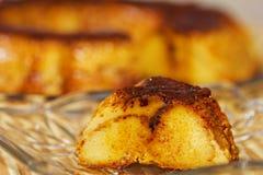 Caramel custard, flan. Creme Caramel Royalty Free Stock Image