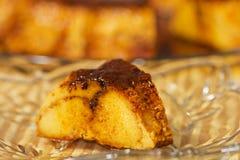 Caramel custard, flan. Creme Caramel Stock Images