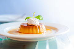 Caramel custard. Stock Image