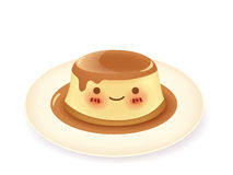 Caramel custard pudding. Vector File EPS10 Royalty Free Stock Photo
