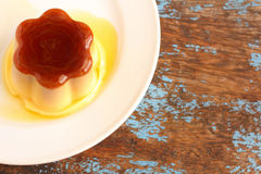 Caramel custard - pudding Royalty Free Stock Photos