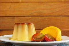 Caramel custard - pudding Stock Photography
