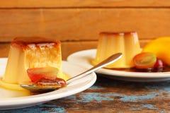 Caramel custard - pudding Royalty Free Stock Photo