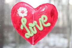 Caramel doux d'amour Image stock