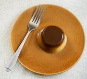 Caramel flan Royalty Free Stock Image