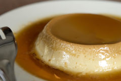 Caramel Flan dessert Royalty Free Stock Images