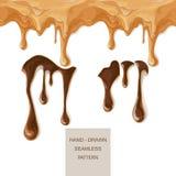 Caramel fondu de chocolat Photographie stock