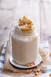 Caramel frappuccino with syrup Stock Photography