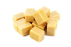 Caramel Fudge Blocks Candy Royalty Free Stock Photos
