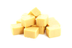 Caramel Fudge Blocks Candy Royalty Free Stock Photo