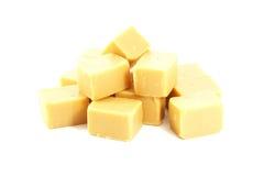 Caramel Fudge Blocks Candy royalty free stock photo