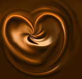 Caramel heart Stock Photo