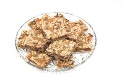 caramel home made squares Στοκ εικόνα με δικαίωμα ελεύθερης χρήσης