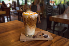 Caramel ice coffee Royalty Free Stock Images