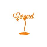 Caramel isolated sign Royalty Free Stock Image
