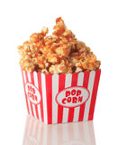 caramel isolerad popcornwhite Fotografering för Bildbyråer
