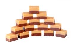 caramel isolerade sötsaker Royaltyfri Foto