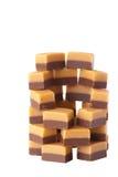 caramel isolerade sötsaker Royaltyfria Bilder
