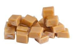 caramel isolerat plastic sötsakomslag Royaltyfri Foto