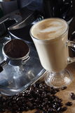 Caramel latte. Serve in hot Royalty Free Stock Photos