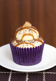 Caramel Latte Cupcake Stock Images