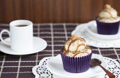 Caramel Latte Cupcake Royalty Free Stock Image