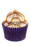 Caramel Latte Cupcake royalty free stock photos